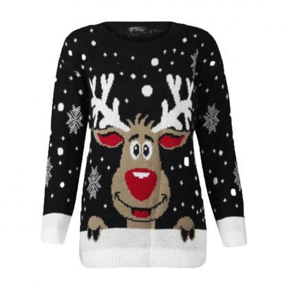 Christmas Deer Warm Knitted Sweater