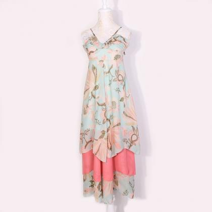 Bohemian Chiffon Dress Tube Sling B..