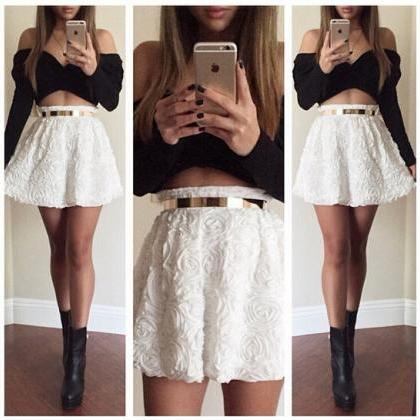 Long-Sleeved T-Shirt Skirt One Thou..