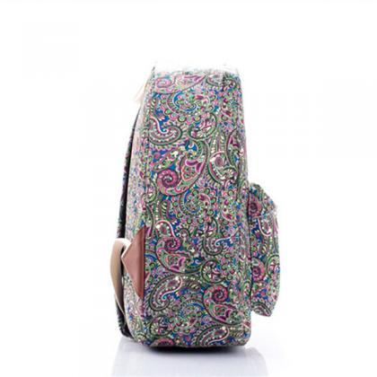 Paisley Printed Backpack In Multico..