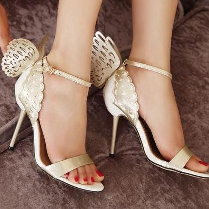 Sexy Wings Design High Heels Fashio..