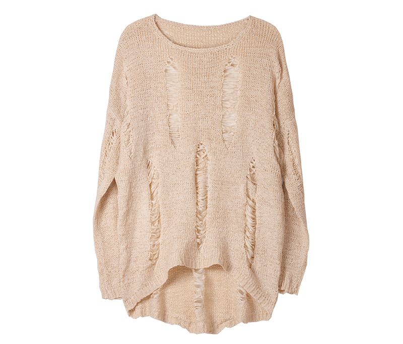 Korean Style Loose Fit Torn Ripped Sweater Knit Jumper Made In ...