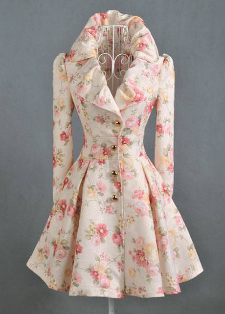 Victorian Floral Design Gorgeous Winter Coat