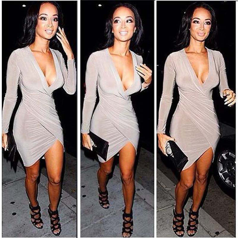 Hot Womens Sexy Slim Fit Cocktail Bodycon Bandage Dress Clubwear Evening Dress