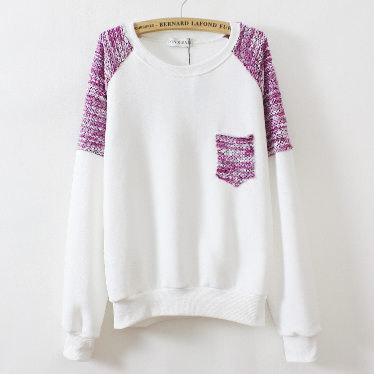 Round Neck Thick Fleece Sweater
