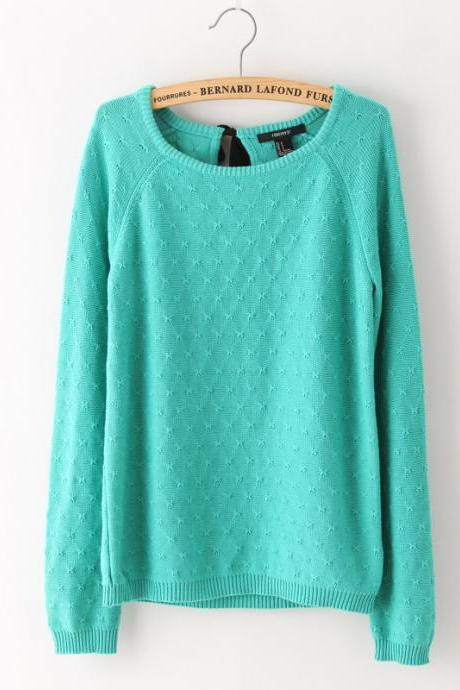 Fashion Sexy Pure Color Sweater