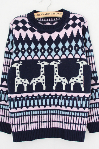 The giraffe cute sweater