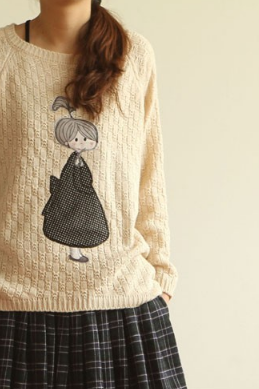 Cartoon irregular sweater
