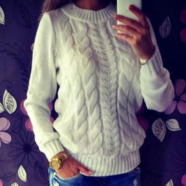 High Quality Fashion Casual Knitted Sweater Tops