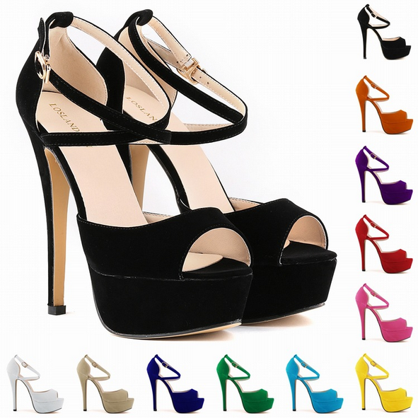Fashion thin foot bride shoes super high heels shoes shoes waterproof