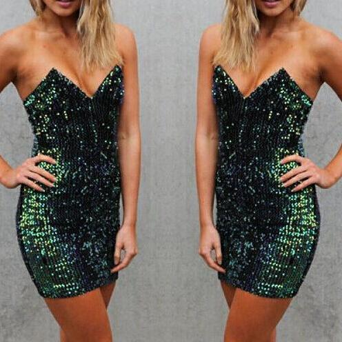 Bra Sexy Sequined Dress