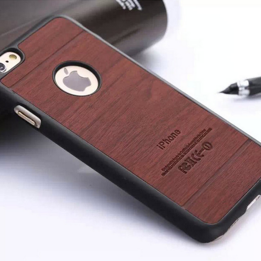 Apple iPhone 6, 6 Plus, PU leather, wooden cases