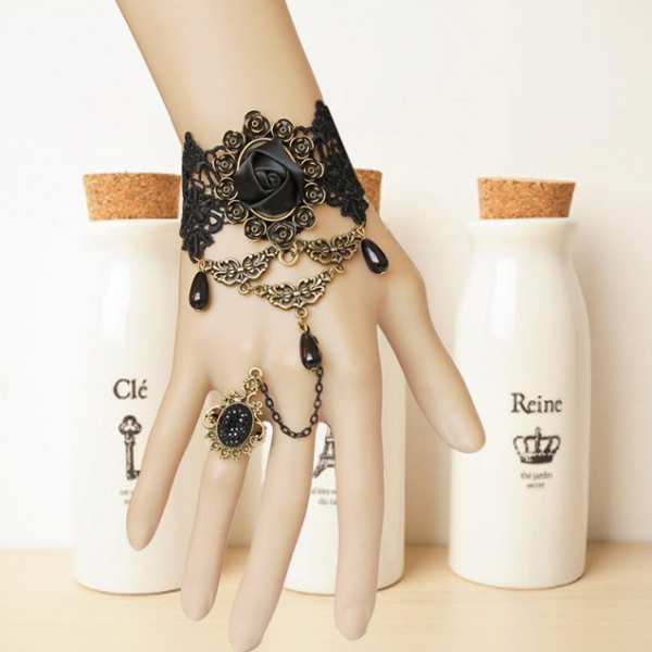 Vampire accessories jewelry bracelet with retro one chain ring female exaggerated ornaments