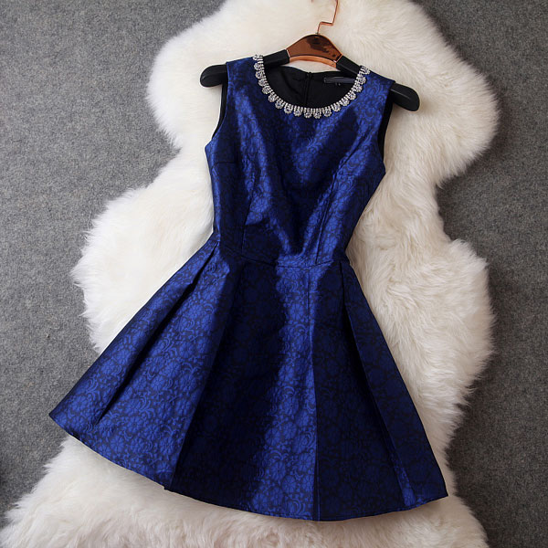 Beaded Collar Prince Dress/Party Dress