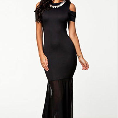 Sexy Party Cut Out Shoulders Long Evening Dress