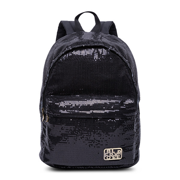 Shimmery Black Sequinned Backpack