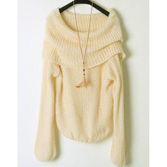 Strapless Boat Neck Sweater