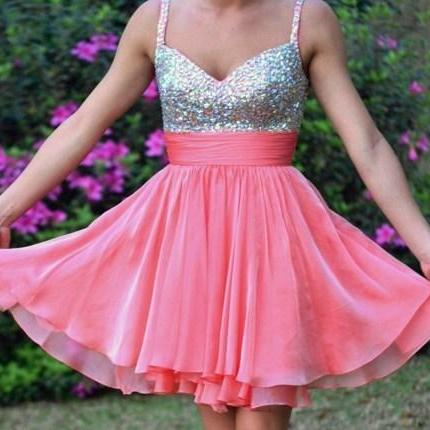 Straps Sequined Dress